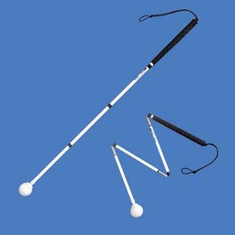Графитен бял бастун с въртяща се топка